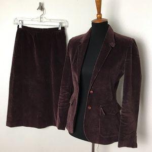 Vintage Junior Sasson Corduroy 2pc Suit Size 3/4
